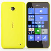 Nokia Lumia 630 635 Amarelo 3d model