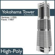 Yokohama landmärke torn 3d model