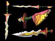 Tribal Sword 3d model