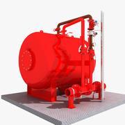 Zbiornik na wodę przeciwpożarową 3d model