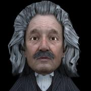 3D Albert Einstein 3d model