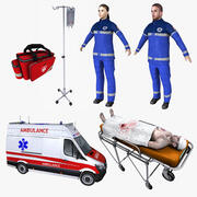 Realtime Ambulance Collection 3d model