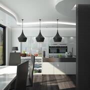 Kuchnia, jadalnia i pokój dzienny 3d model