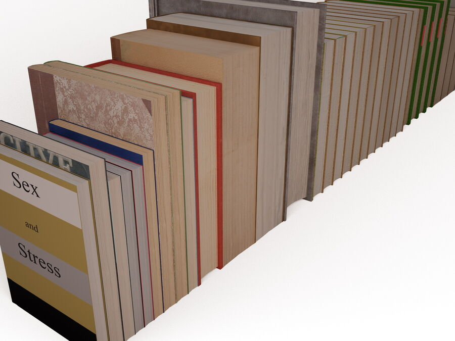 Books 1 royalty-free 3d model - Preview no. 59