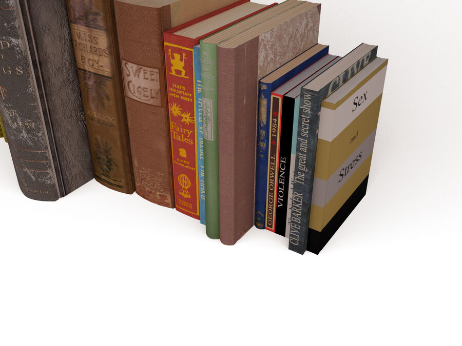 Books 1 royalty-free 3d model - Preview no. 7