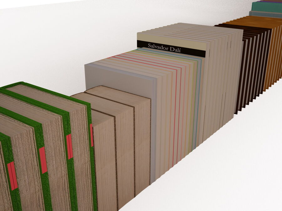 Books 1 royalty-free 3d model - Preview no. 67