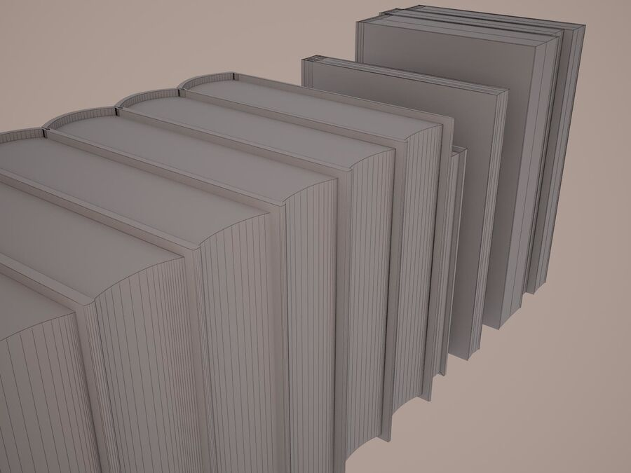Books 1 royalty-free 3d model - Preview no. 119