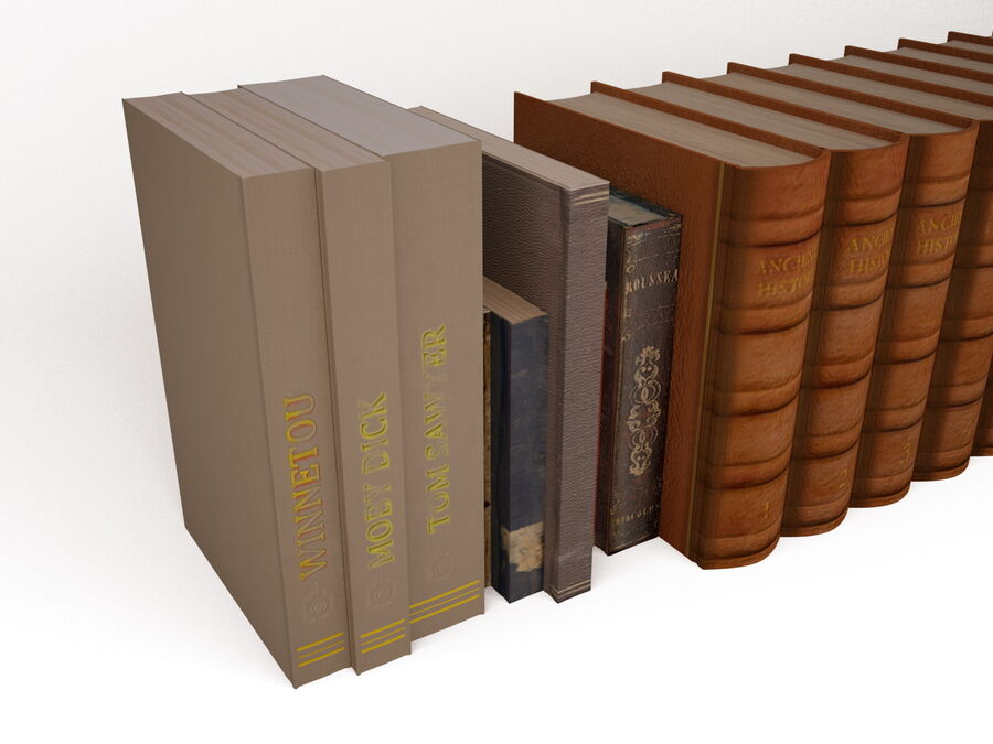 Books 1 royalty-free 3d model - Preview no. 13