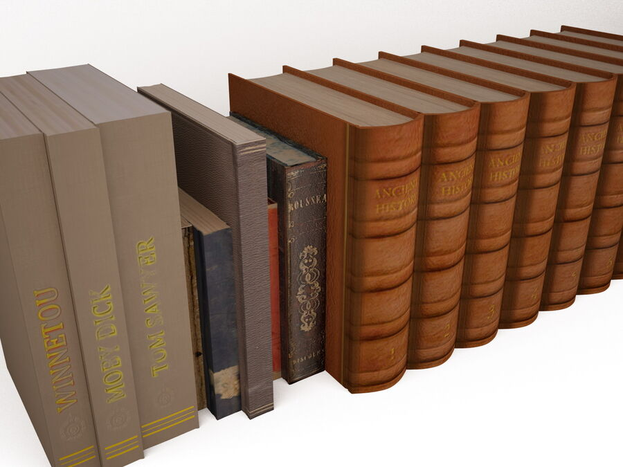 Books 1 royalty-free 3d model - Preview no. 16