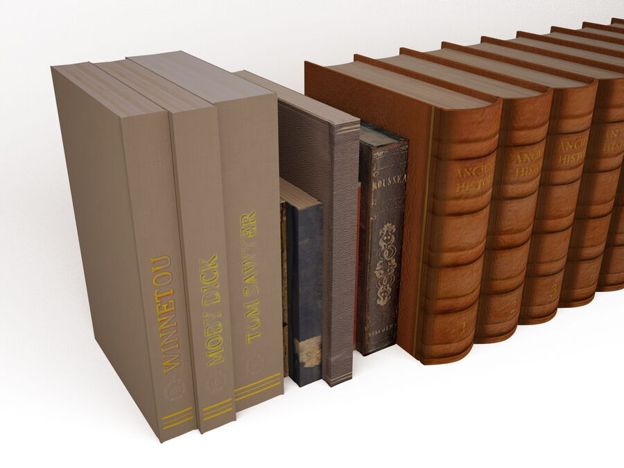 Books 1 royalty-free 3d model - Preview no. 14
