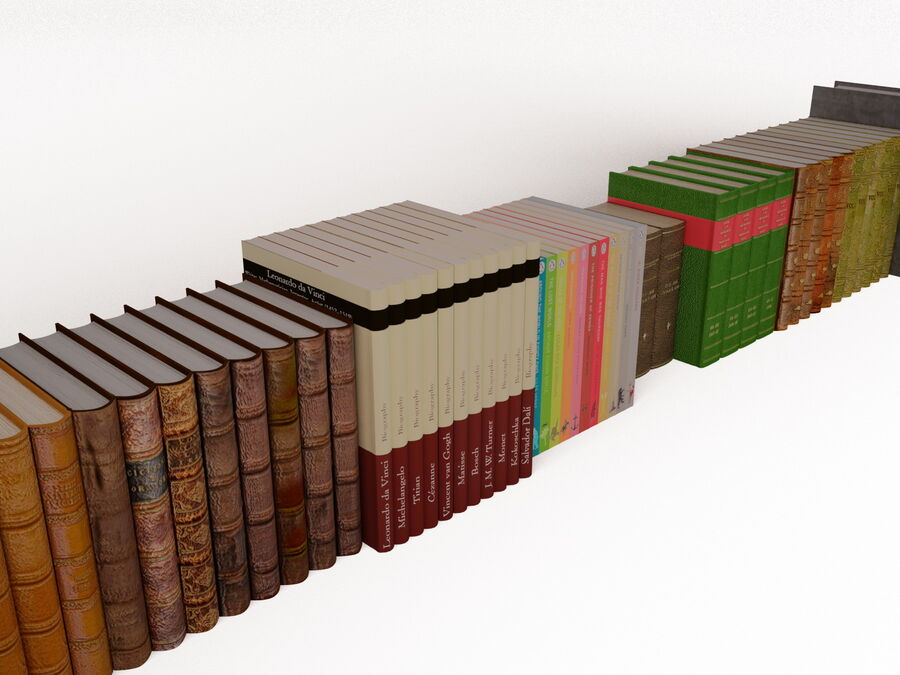 Books 1 royalty-free 3d model - Preview no. 41