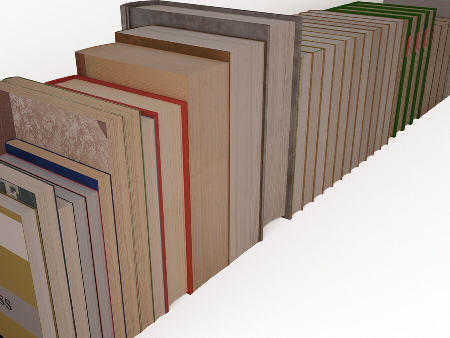 Books 1 royalty-free 3d model - Preview no. 60