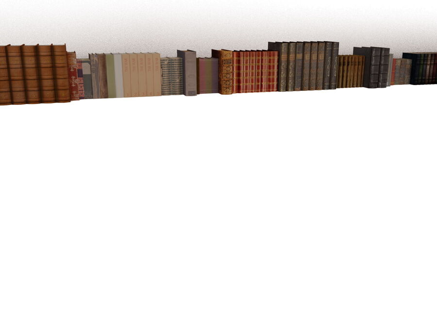 Books 1 royalty-free 3d model - Preview no. 10