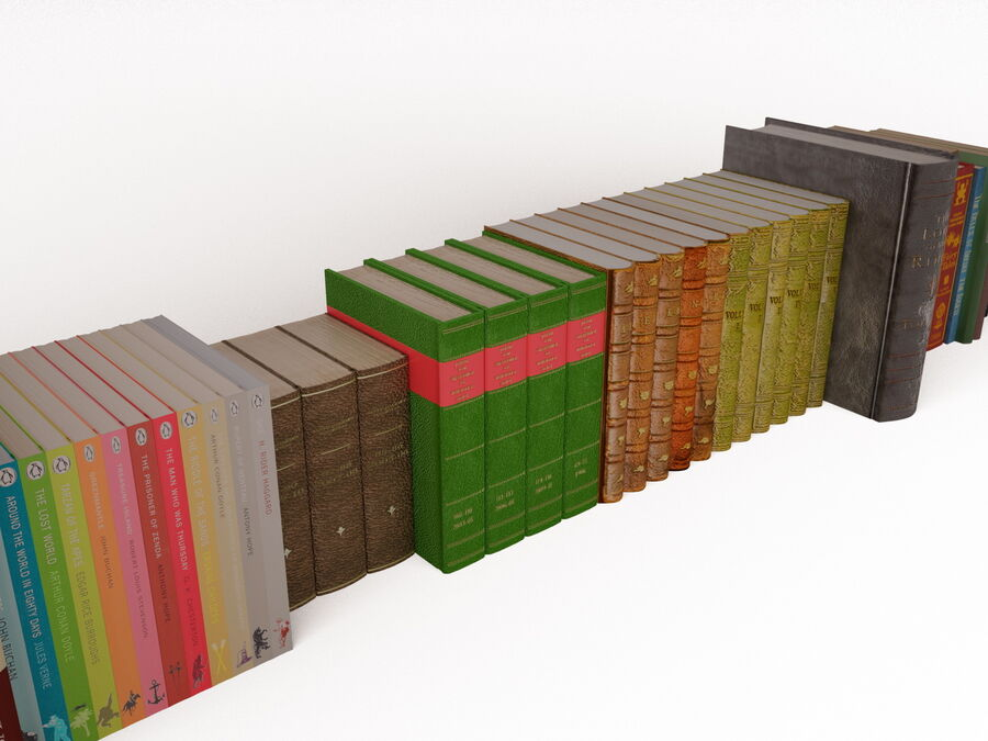Books 1 royalty-free 3d model - Preview no. 44