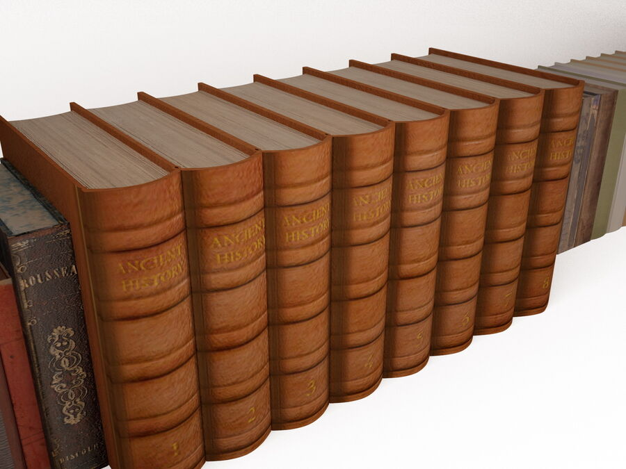 Books 1 royalty-free 3d model - Preview no. 19