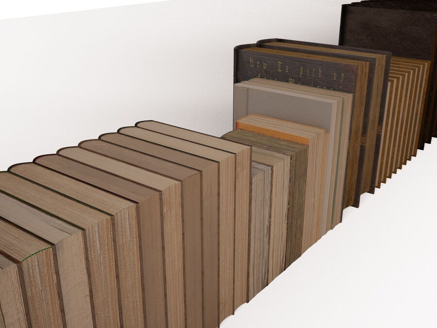 Books 1 royalty-free 3d model - Preview no. 75