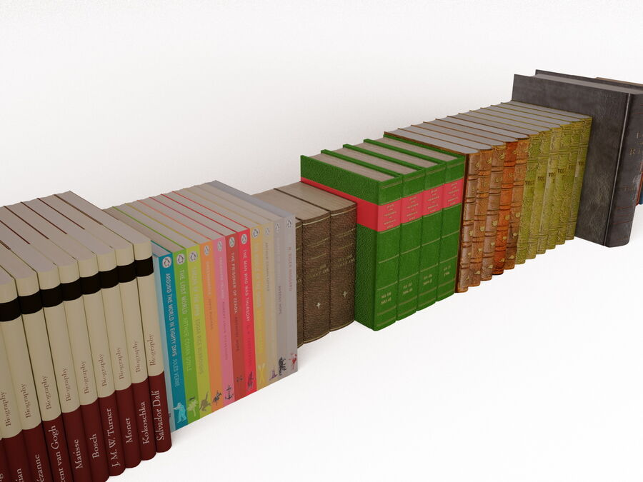 Books 1 royalty-free 3d model - Preview no. 43