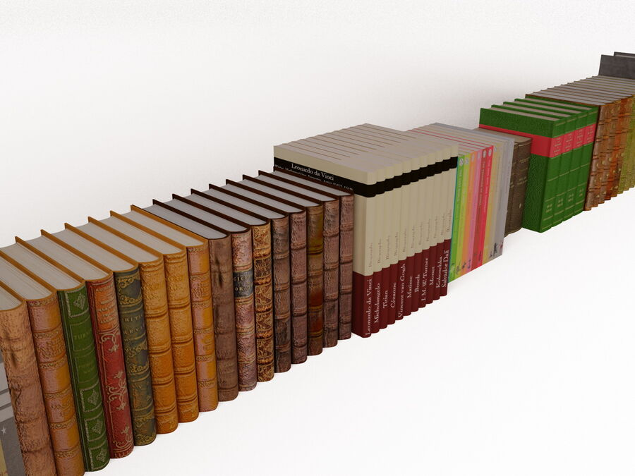 Books 1 royalty-free 3d model - Preview no. 40