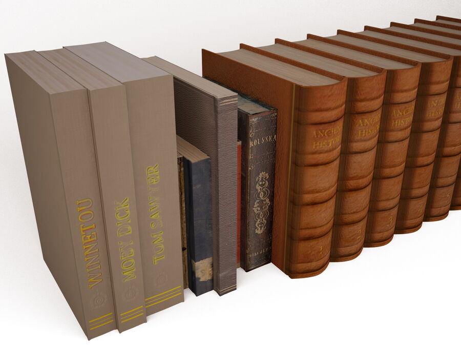 Books 1 royalty-free 3d model - Preview no. 15