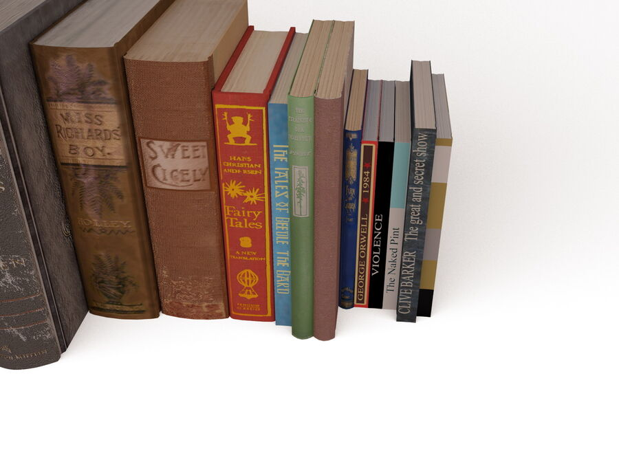 Books 1 royalty-free 3d model - Preview no. 50