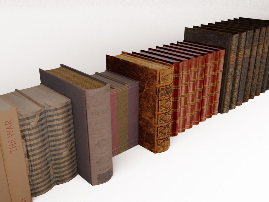 Books 1 royalty-free 3d model - Preview no. 27