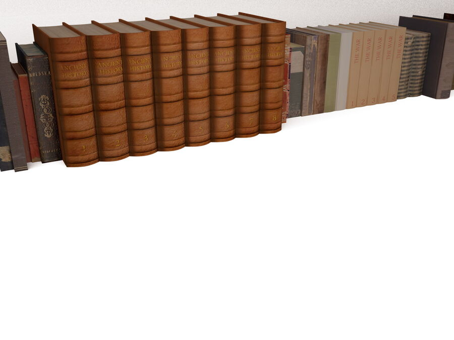 Books 1 royalty-free 3d model - Preview no. 11