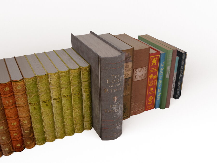 Books 1 royalty-free 3d model - Preview no. 48