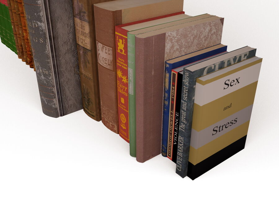 Books 1 royalty-free 3d model - Preview no. 52