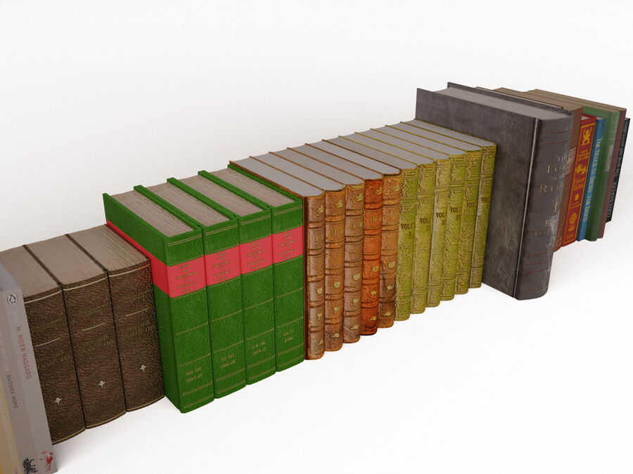 Books 1 royalty-free 3d model - Preview no. 45
