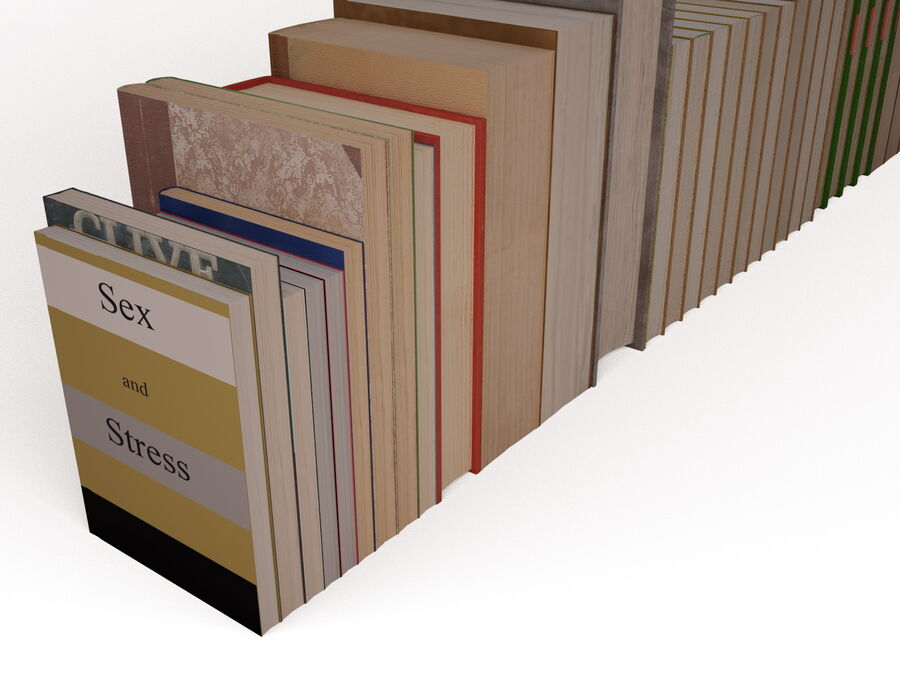 Books 1 royalty-free 3d model - Preview no. 57