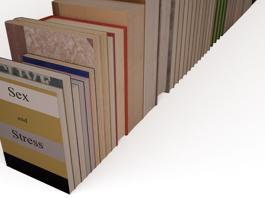 Books 1 royalty-free 3d model - Preview no. 56