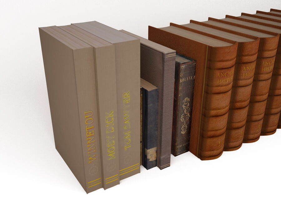 Books 1 royalty-free 3d model - Preview no. 12