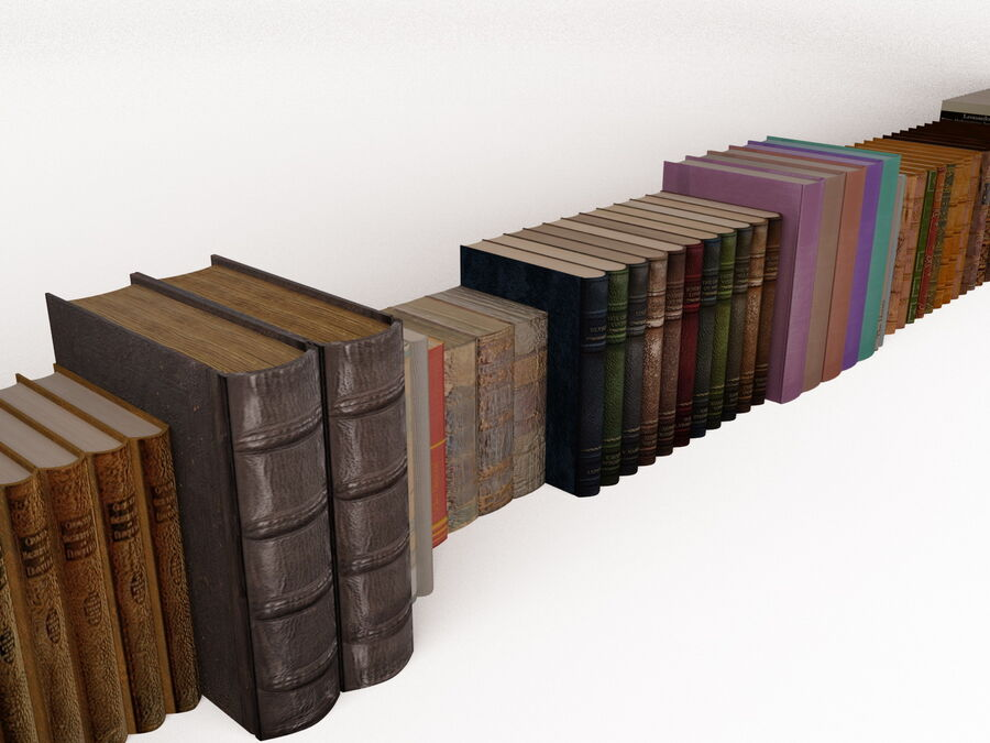 Books 1 royalty-free 3d model - Preview no. 34