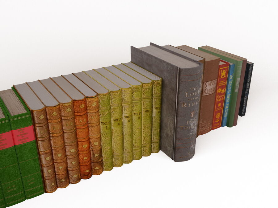 Books 1 royalty-free 3d model - Preview no. 47