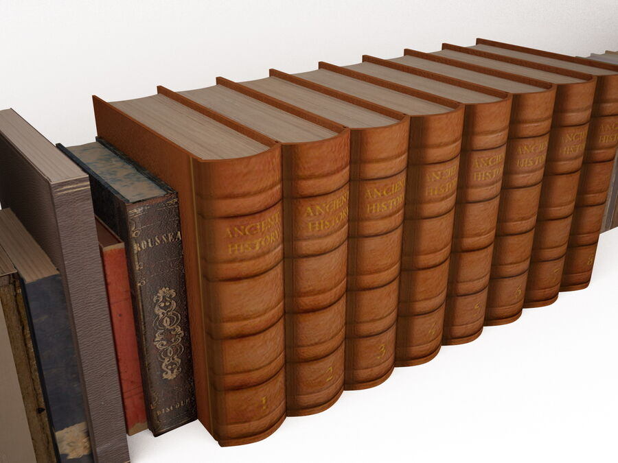 Books 1 royalty-free 3d model - Preview no. 18