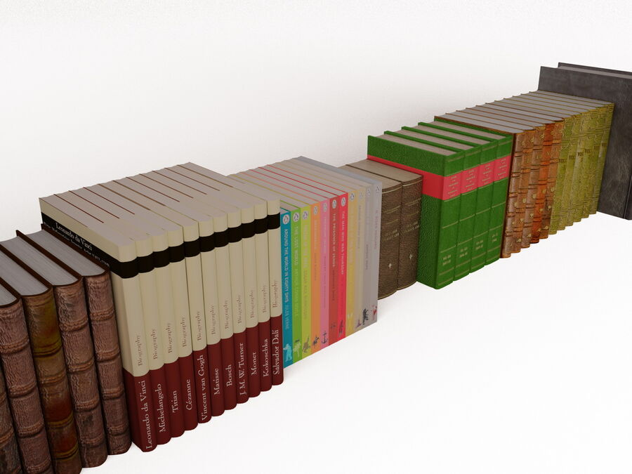 Books 1 royalty-free 3d model - Preview no. 42