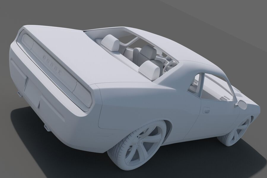 Dodge Challenger royalty-free modelo 3d - Preview no. 19