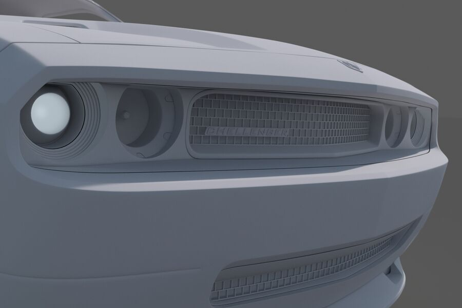 Dodge Challenger royalty-free modelo 3d - Preview no. 14