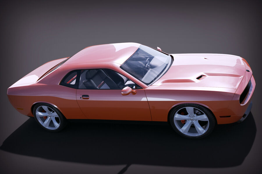 Dodge Challenger royalty-free modelo 3d - Preview no. 7