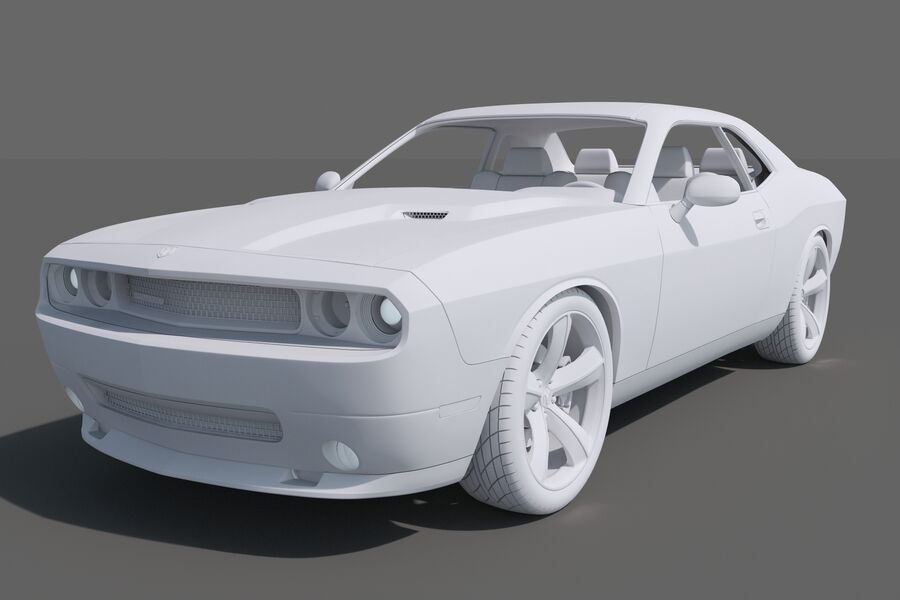 Dodge Challenger royalty-free modelo 3d - Preview no. 11