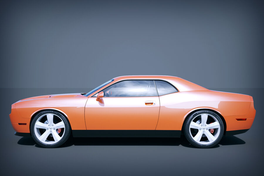 Dodge Challenger royalty-free modelo 3d - Preview no. 10