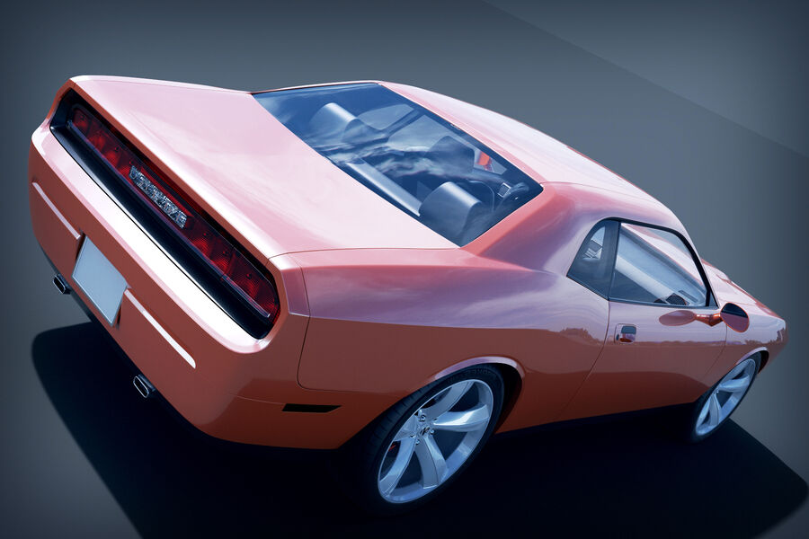 Dodge Challenger royalty-free modelo 3d - Preview no. 8