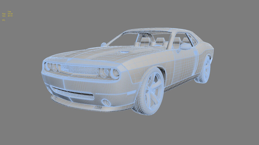 Dodge Challenger royalty-free modelo 3d - Preview no. 18