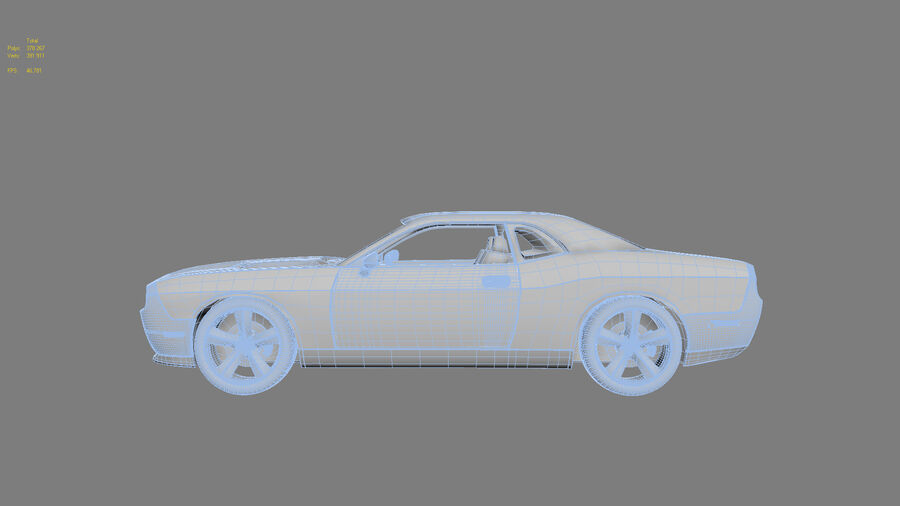 Dodge Challenger royalty-free modelo 3d - Preview no. 25