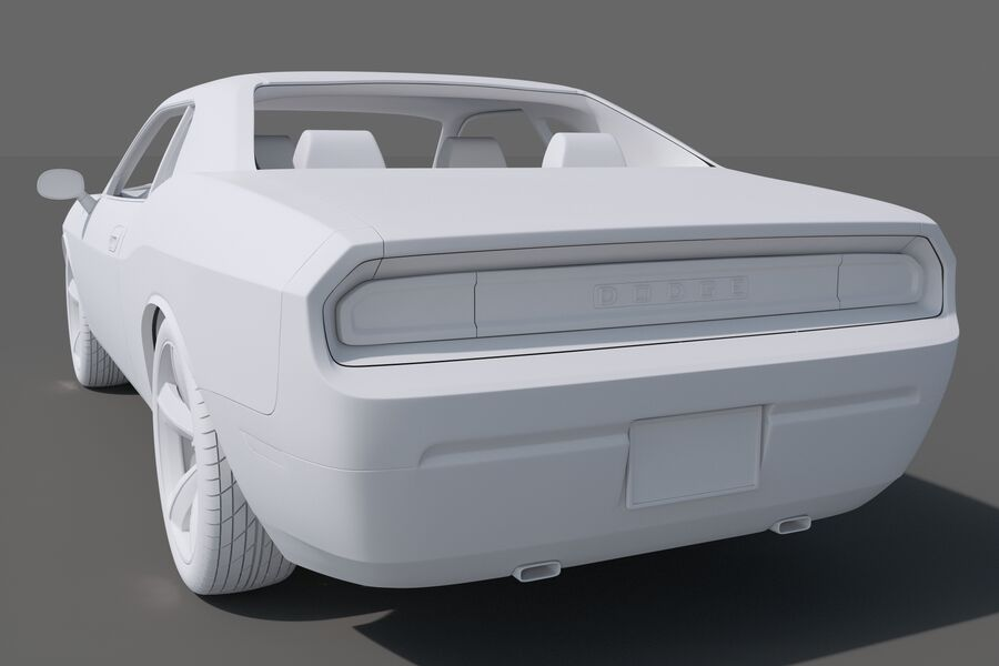 Dodge Challenger royalty-free modelo 3d - Preview no. 13