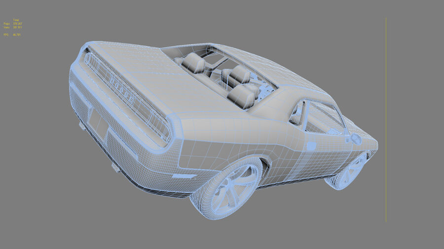 Dodge Challenger royalty-free modelo 3d - Preview no. 24