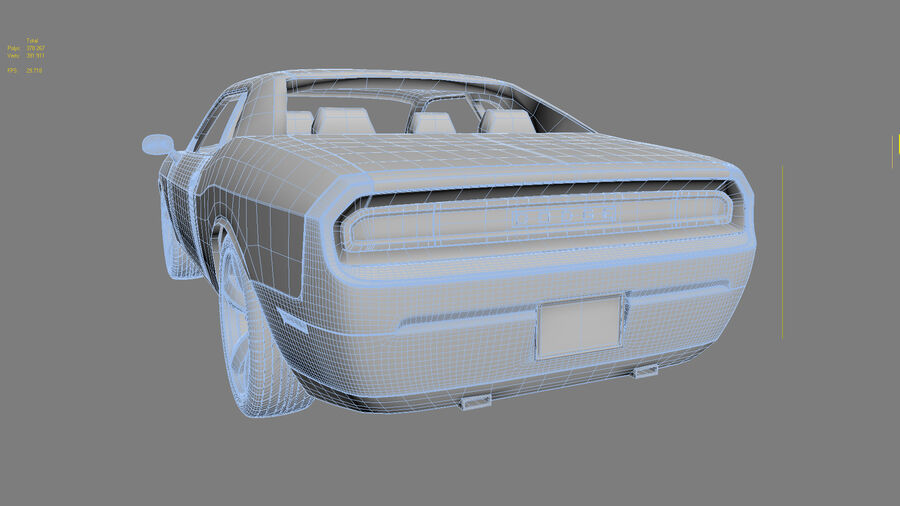 Dodge Challenger royalty-free modelo 3d - Preview no. 21
