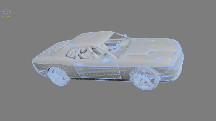 Dodge Challenger royalty-free modelo 3d - Preview no. 23