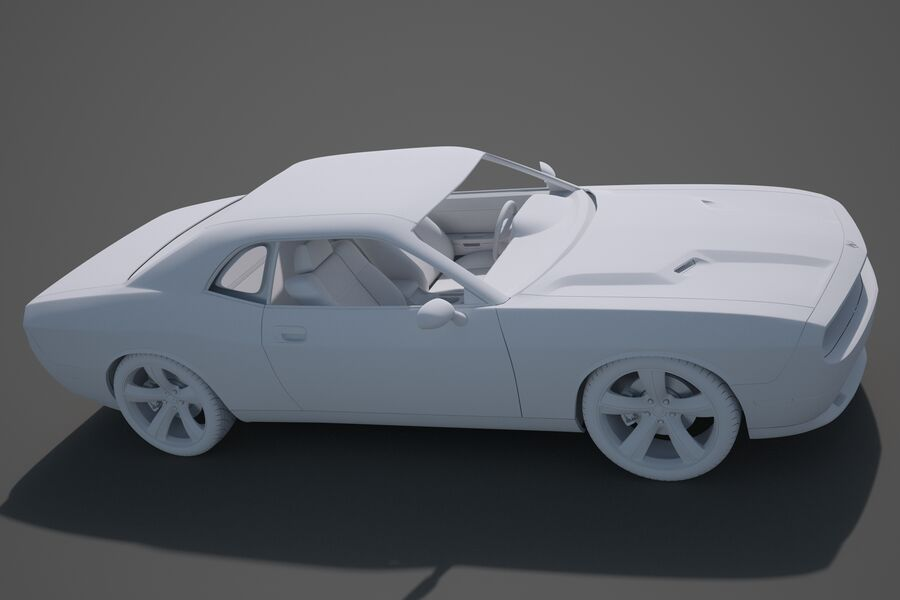 Dodge Challenger royalty-free modelo 3d - Preview no. 17