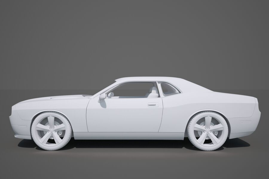 Dodge Challenger royalty-free modelo 3d - Preview no. 22